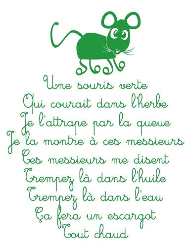 Une Souris Verte song