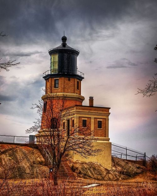 Split Rock Lighthouse, located on Lake Superior's north shore, Minnesota