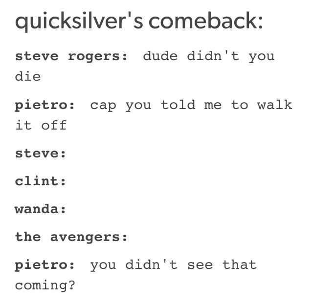 // Pietro Maximoff, Wanda Maximoff, the Maximoff Twins, Quicksilver, Scarlet Witch, Captain America, Hawkeye //