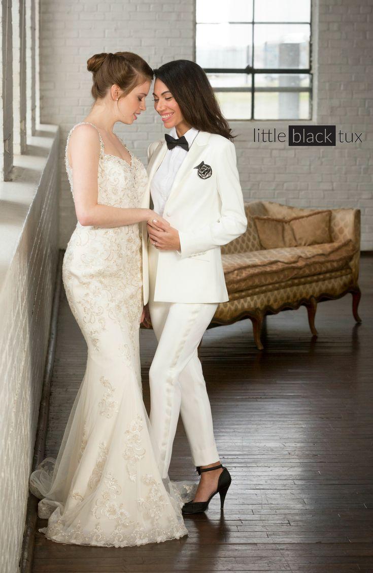 Women's Ivory Diamond White Tuxedo / Ladytux. Peak lapel, slim fit, belt loops, satin lapel, female tuxedo, suit tux, jacket blazer. Wedding, engayged, bridesmaids, black tie.