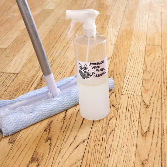 Make your own wood floor cleaner.   We tested it out and it isn't harsh on hardwoods and cleans without leaving unwanted streaks or waxy residue!