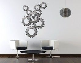 Functional Wall Decal Clock