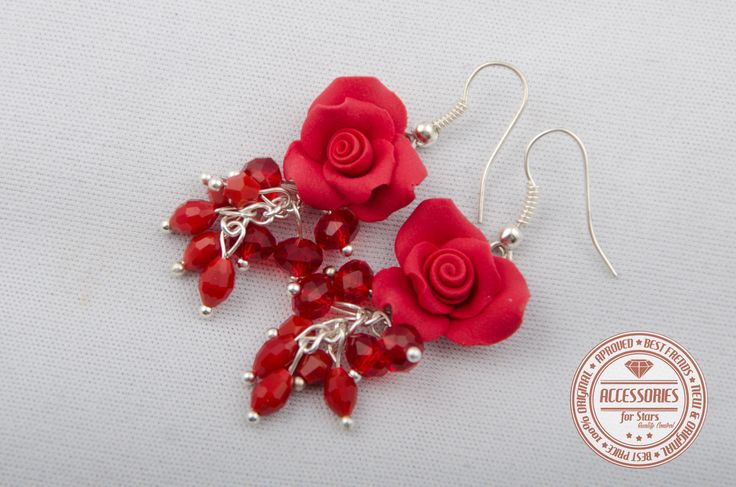 http://accessoriesforstars.blogspot.ro/ #rose #roses #red #polymer #earrings #accessoriesforstars #original #unique