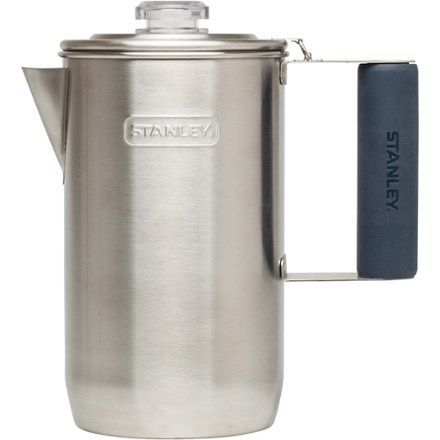 Waking up to hear a percolator bubbling over the campfire is the outdoor coffee many of us remember, and the 6-cup Stanley Adventure Percolator reminds us that Grandpa's way was often best. It's stainless steel frame is built to follow you on many adventures.