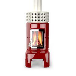 Round Stack long   Wood burning stoves   La Castellamonte