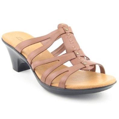 Clarks Butterscotch Sandals Slides Shoes Brown Womens, (casual, clarks, clarks  sandals,