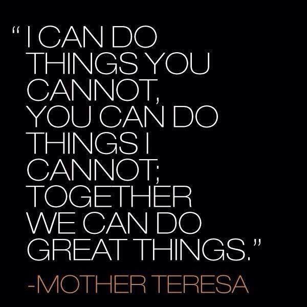 We can do great things.
