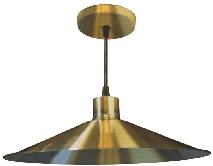 Lámpara De Techo Colgante De Chapa Metal Oro Nuevo o Platil