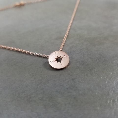 Compass Rose Gold Necklace