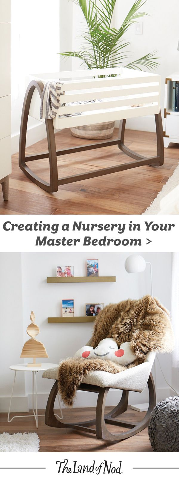 While you may have a nursery all ready for your new bundle of joy, you may find you want to keep that little guy in your master bedroom so they're a little closer in the early days. With just a few small additions, it's easy to add some functional essentials to your bedroom to make way for your newborn, without adding any additional chaos.