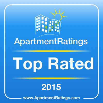 "We are excited to announce that our community has been awarded a ""2015 Top Rated Community"" on #ApartmentRatings based on resident satisfaction!"