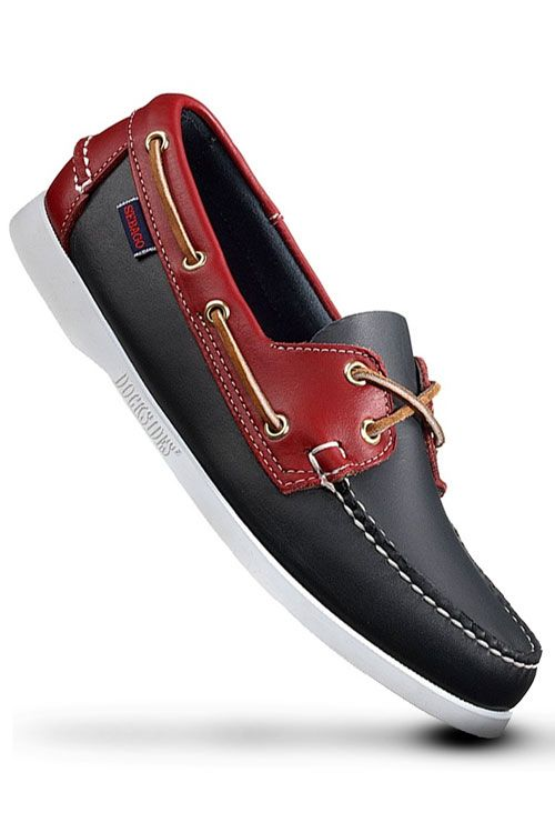 Sebago Dockside – Red / Navy Blue - not bad for next summer...