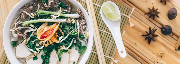 Ônam | Vietnamese cuisine | Forum Helsinki vietnamilainen ravintola pho-keitto nuudelisalaatti ma-pe 20, la su 18 asti