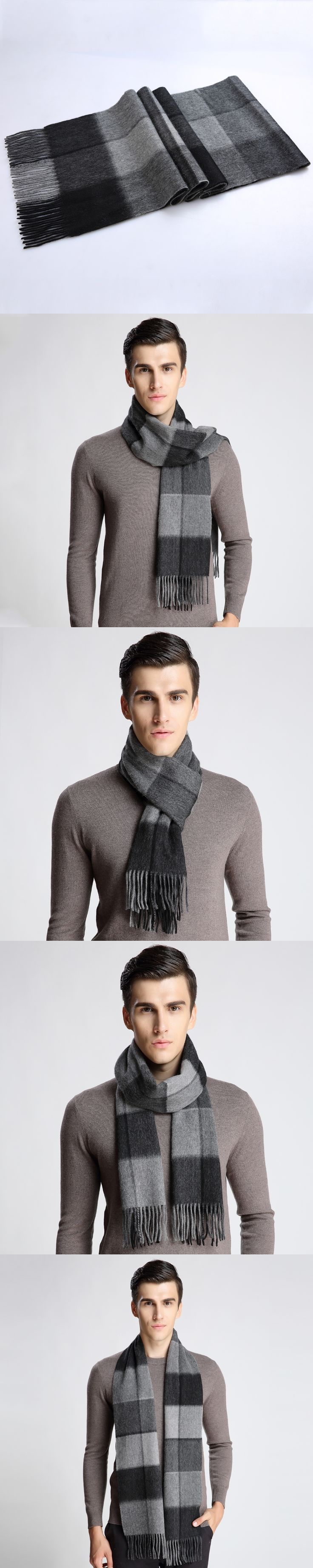 Fashion Winter Men Scarf Hot Sale Thicked Warm Man's Cashmere Scarf Plaid Scarf For Man Winter Autumn Scarf