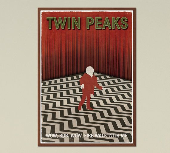 Twin Peaks TV Show Inspired Large Poster Twin di RedHillPrintables