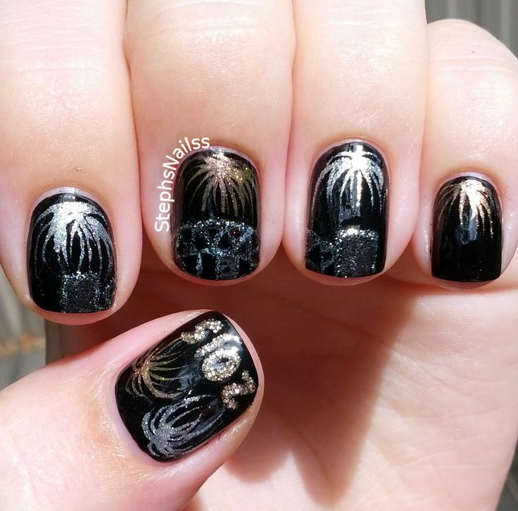 StephsNailss: New Years Nails!