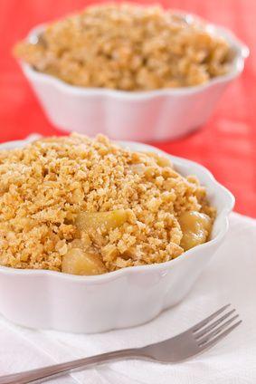 Crumble aux pommes et caramel au beurre salé... une tuerie !!