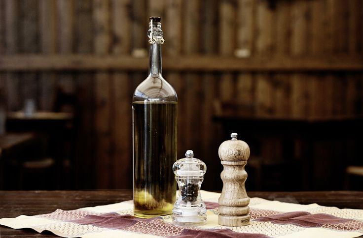 Al ristorante... olio, sale e pepe