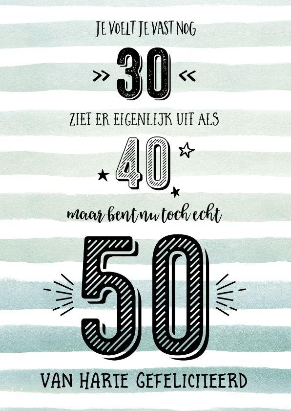 Wonderlijk 50 Jaar, gefeliciteerd met je verjaardag! (met afbeeldingen IZ-56