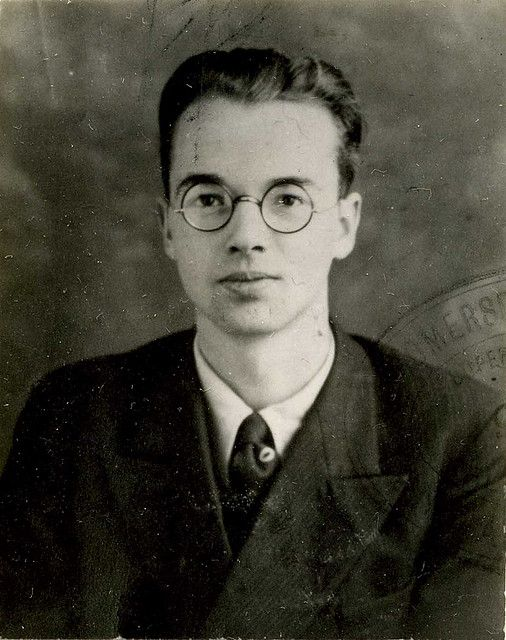 Spy. Police photograph of Physicist Klaus Fuchs. In 1933 Fuchs fled Germany for Britain. During the War he worked on the Manhattan Project in the United States to build the Atomic Bomb and later worked on British nuclear projects. In 1950 he admitted spying for the Russians since 1942 and passing on details of British and American nuclear technology.