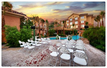 Sandy Beach Hawaiian Garden Weddings Las Vegas