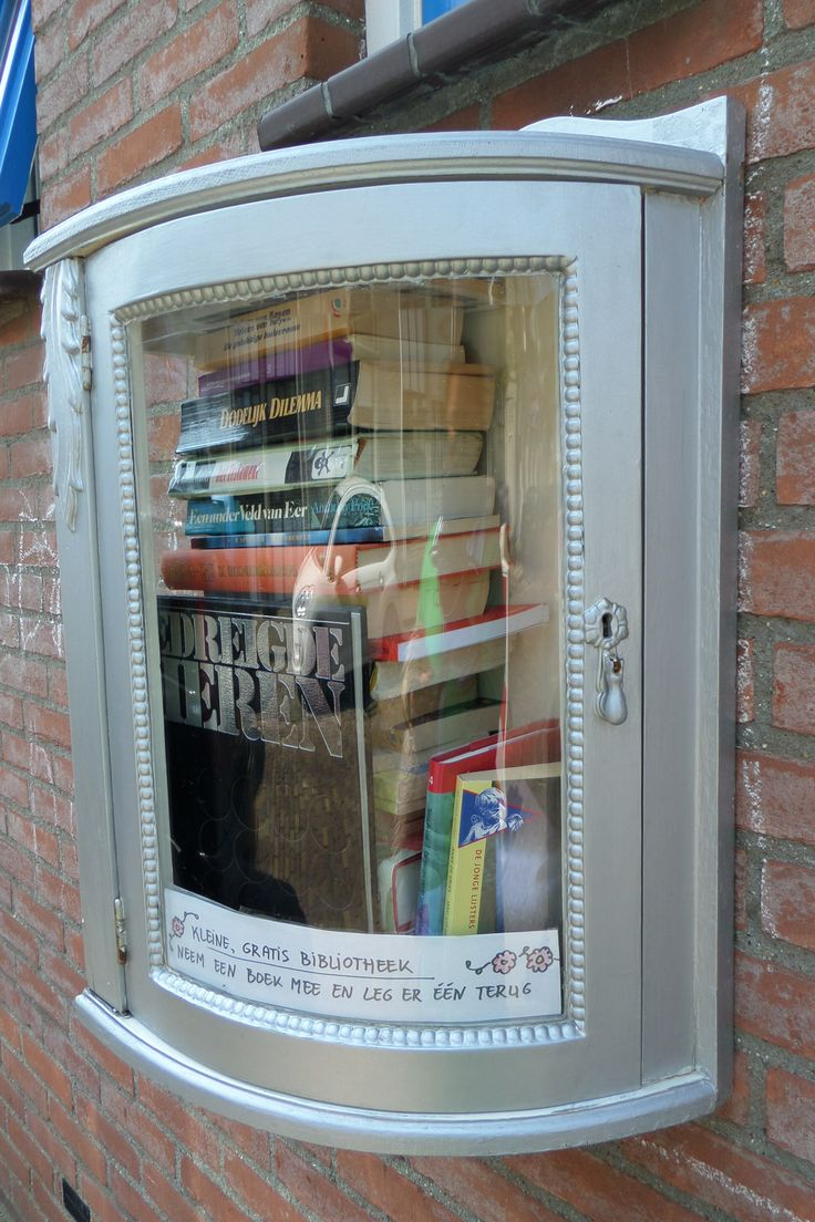 Gratis Bibliotheek, Paardestraat, Vlissingen , Zeeland.