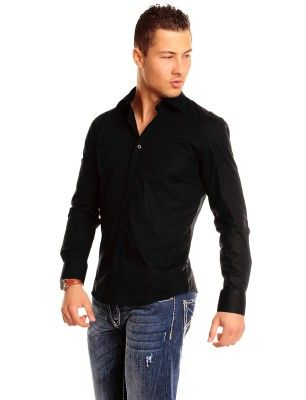Carisma camisa formal slim fit | negra