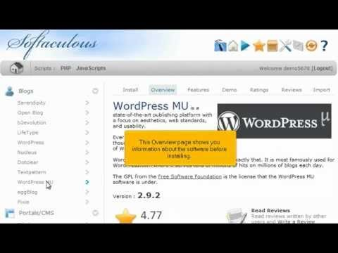 View the following tutorial on how to install WordpressMU in 1 minute with 1 click!!  WordpressMU web hosting with http://giganetwebhosting.com Fast and Easy.