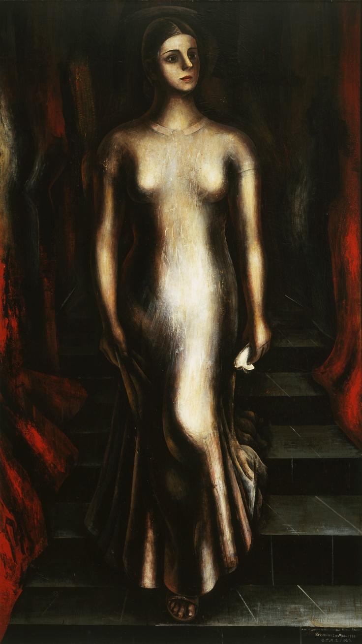 DAVID ALFARO SIQUEIROS, Retrato de María Asúnsolo bajando la escalera, 1935