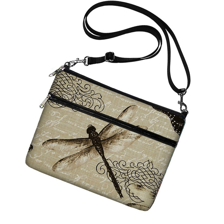 Cute iPad Case, iPad Cover, New iPad Sleeve with pocket, iPad Bag Purse with strap, iPad 4 3 2 1 Case  - Vintage Dragonfly black. $49.99, via Etsy.
