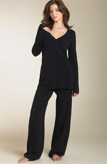 cashmere pajamas...these would keep me warm on my visits to the frozen tundra...