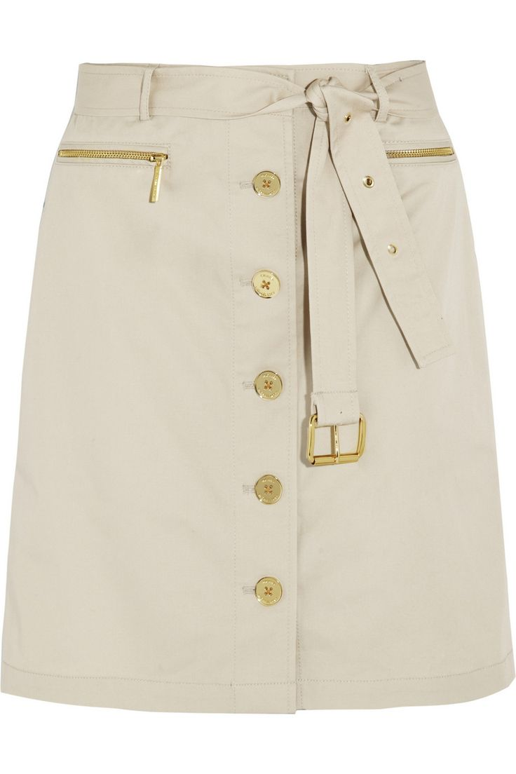 MICHAEL Michael KorsBelted stretch-cotton skirt