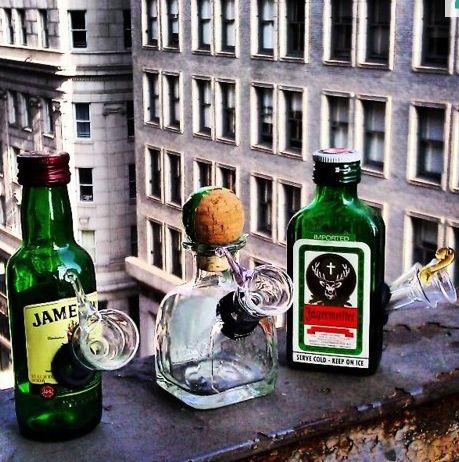 These mini bottle bongs. | 24 Gifts For The Secret Stoner You Know äger Bongs > Jäger Bombs. Get them here for $10.