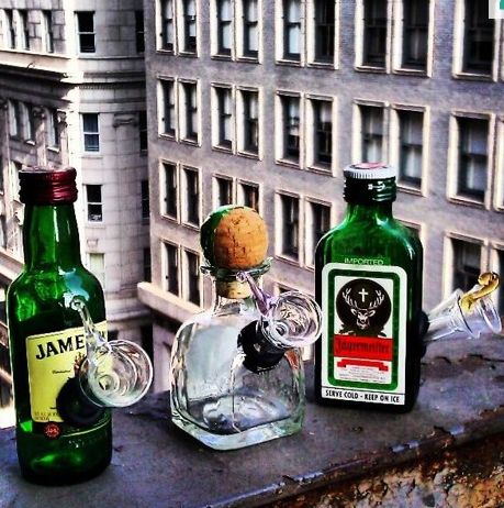 These mini bottle bongs. | 24 Gifts For The Secret Stoner You Know  Love the Patron bottle