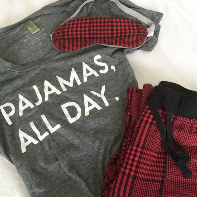 Pajamas All Day tee by: ILY COUTURE styled by: @lilliandtori