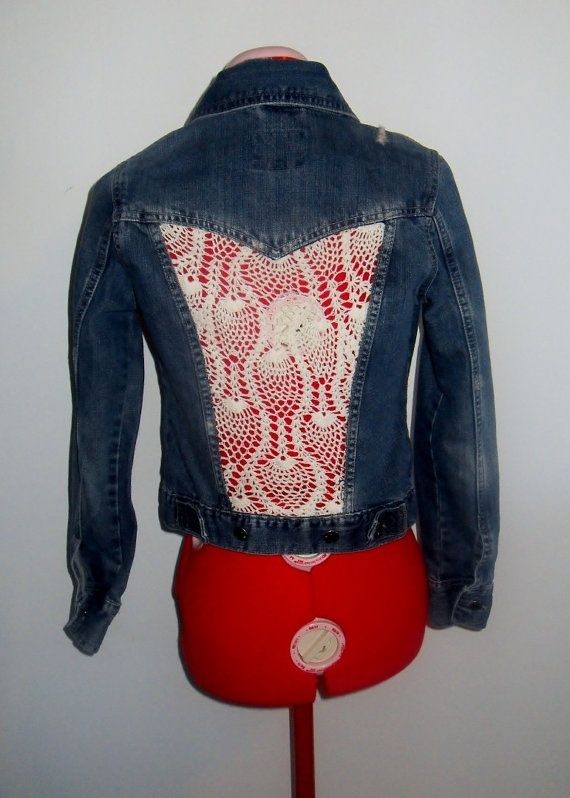 Upcycle Denim Linen And Lace Google Search Upcycle
