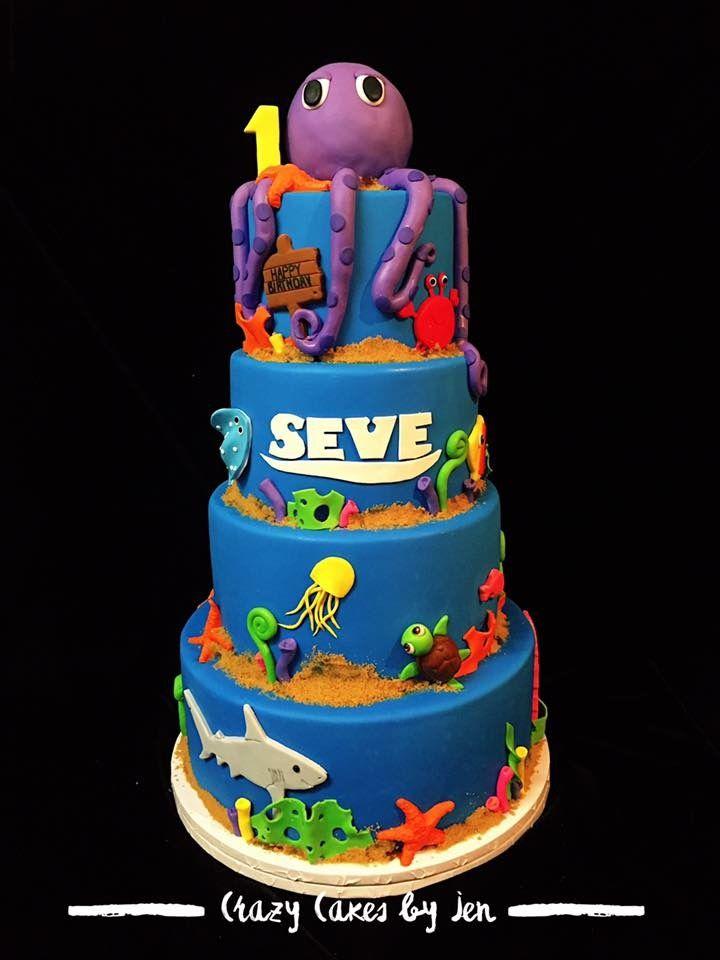 Under The Sea Cake Sea Cakes Ocean Cakes Cake