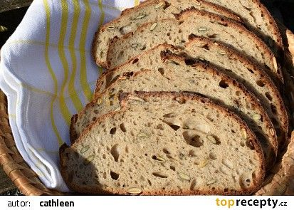 Pšenično-žitný chleba se semínky recept - TopRecepty.cz