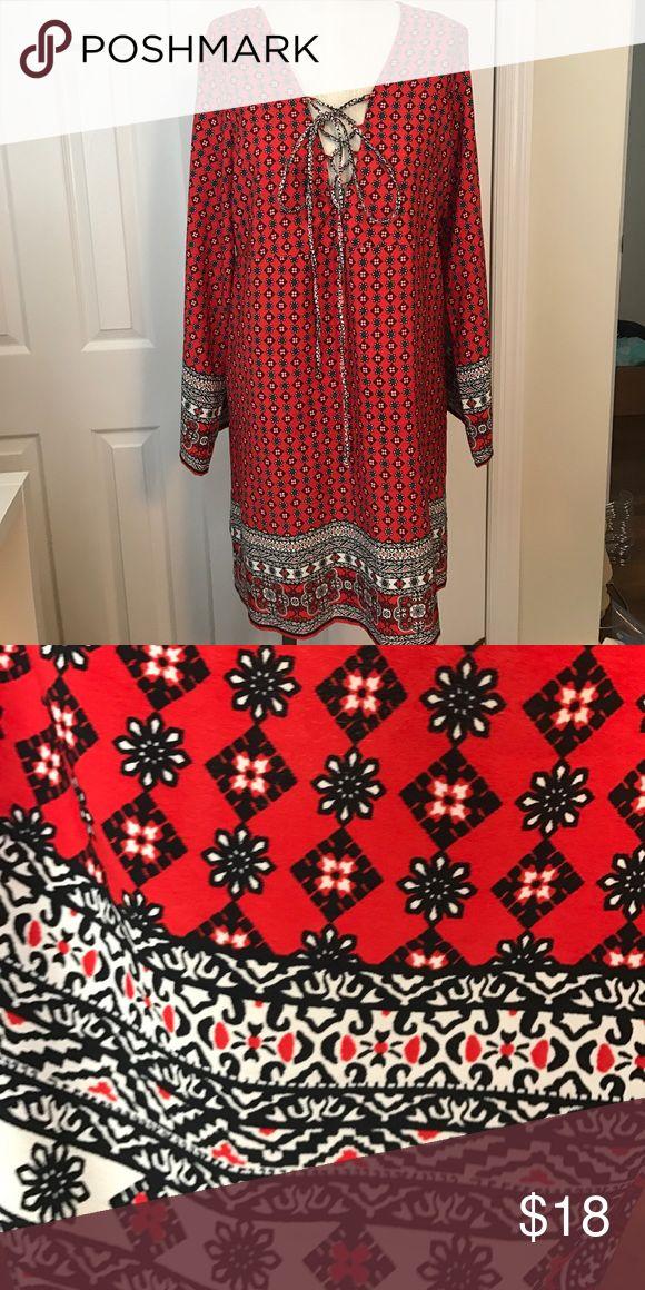 Asos Curve Mini lace up Dress Boohoo for Asos Curve Mini Dress EUC. Great as a coverup too! 100% polyester. Boohoo Plus Dresses Mini