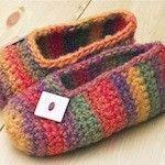Crochet Pattern: Rainbow Striped Slippers   The Zen of Making