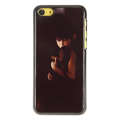 Ghastful Vrouw Ghost Pattern PC Hard Case met 3 Verpakt HD Screen Protectors voor iPhone 5C – EUR € 6.71
