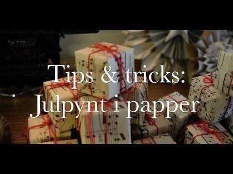 DIY: Hur du gör julpynt i papper!