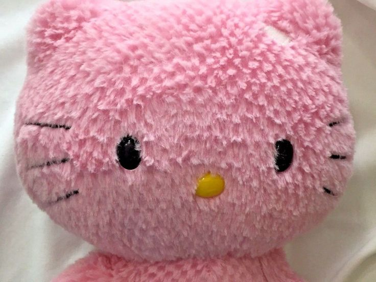 Pink Hello Kitty Plush Build A Bear Missing Bow Large Sanrio Heart Foot BAB 18in #BuildABearWorkshop