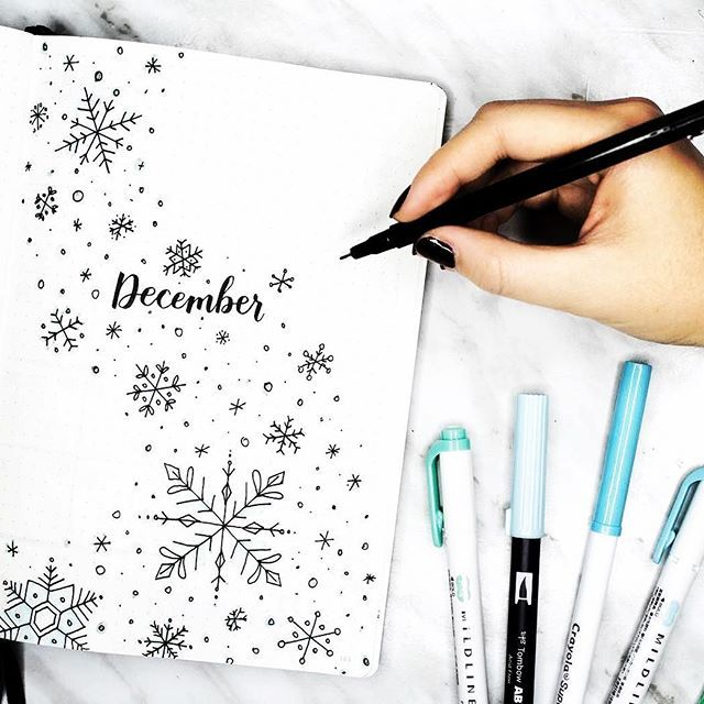 Who else is pumped for December and cooler weather?  beautiful #hellodecember from @amandarachdoodles. Looking or more holiday inspiration? Check out my latest blog post for a plethora of bullet journal holiday planning ideas. ・・・ my december plan with me + bullet journal setup is up! ❄️ it's a snowy one, so make sure you get all cozy before you watch link in my bio! can you believe that this is the last month of 2017??? it's crazy! . . . #bulletjournalchallenge #bulletjournaljunkie...