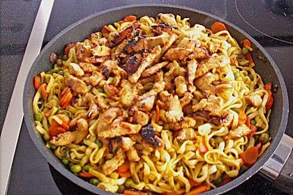 Gebratene Curry - Nudeln mit Pute 9