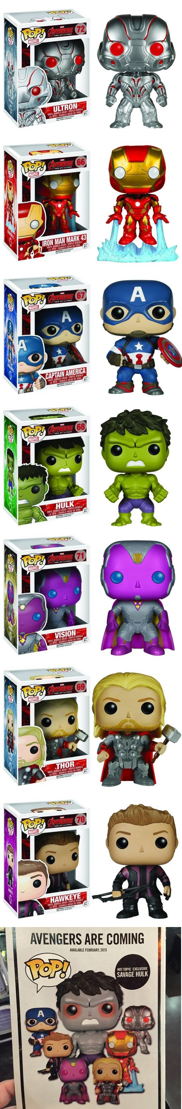 New Avengers: Age Of Ultron Funko Pops Hint At Changes For The Hulk Avengers fans, listen up! We've got some potentially spoiler-y news for you about a possible change that could occur for a Marvel character in the upcoming Avengers: Age of Ultron. We also have your first look at the Funko Pop! figures for the film. Read more at http://nerdapproved.com/toys/new-avengers-age-of-ultron-funko-pops-hint-at-changes-for-the-hulk/#KwOemRQs28Bw75J2.99