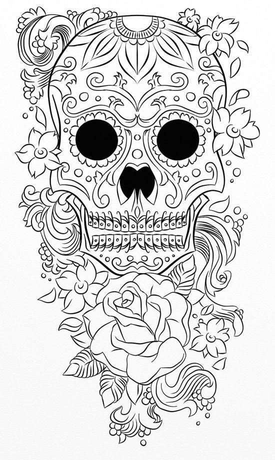 Mejores 53 imágenes de Skull Coloring 4 en Pinterest | Calaveras de ...