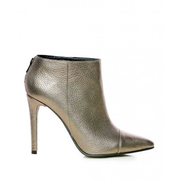 Bronze Leather Booties