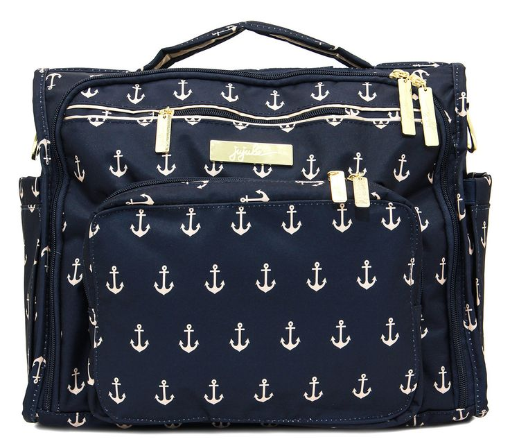 The Admiral BFF Diaper Bag from @jujubebags - if you're doing a nautical nursery, you totally need this bag! #PNpartner