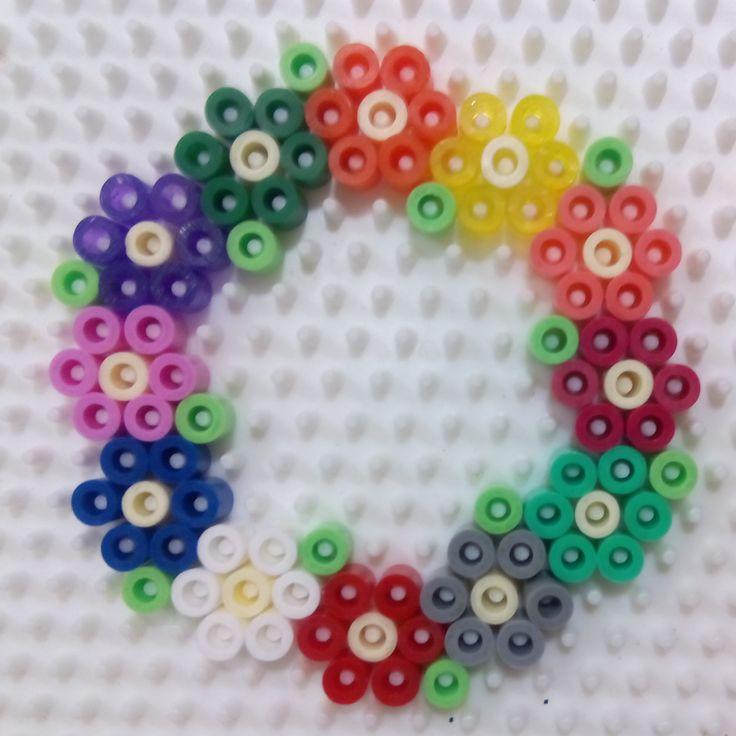 Corona Flores Hama Beads Pearl Beads Pattern Hama
